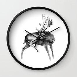 Fallow Deer Stag Wall Clock