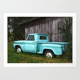 To Be Country - Vintage Truck Art Art Print