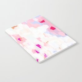 Netta - abstract painting pink pastel bright happy modern home office dorm college decor Notebook