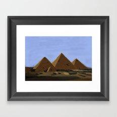 Egyptian Pyramids Framed Art Print