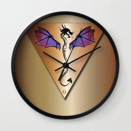 Copper Dragon Wall Clock