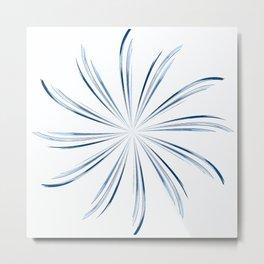 Steel Blue Star Metal Print