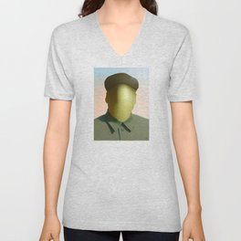 Mao as wound 1 Collage Unisex V-Neck