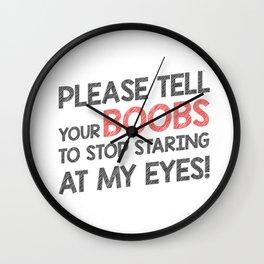 Stop staring my eyes! Wall Clock