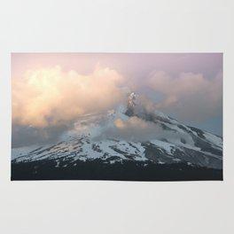 Pink Fog Mountain Morning Rug