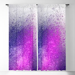 Hot Pink and Purple Paint Splatter Blackout Curtain