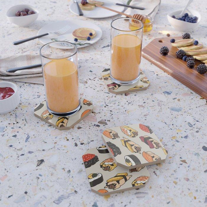 Sushi Pug Coaster