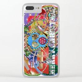 Xmas Card 01 Clear iPhone Case