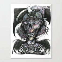 Feminine Skull Canvas Print