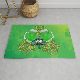 St. Patricks Day Green Beer Rug