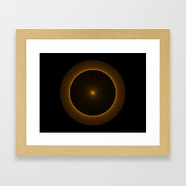 Interference Pattern Framed Art Print