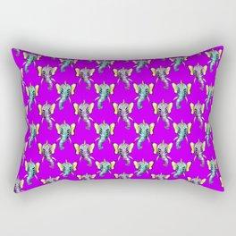 elephant alien butterfly pattern Rectangular Pillow