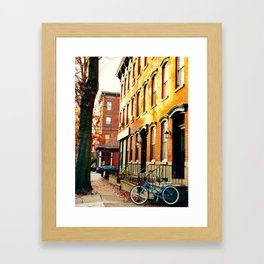 Yellow Bike Framed Art Print