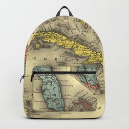 Vintage Map of The Caribbean (1898) Backpack