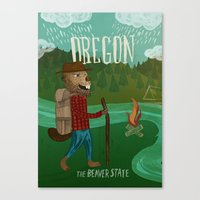 oregon Canvas Prints featuring Oregon by Santiago Uceda