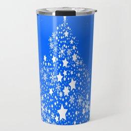 Star Spangled Snowflake Christmas Tree Travel Mug