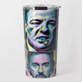 Gangsters painting movie Goodfellas Godfather Casino Scarface Sopranos Travel Mug