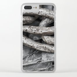 Vintage Chains and Slate Clear iPhone Case