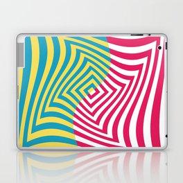 Colorful distorted Optical illusion art Laptop & iPad Skin