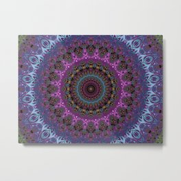 colorful fractal kaleidoscope Metal Print