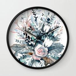 Frostflowers Wall Clock