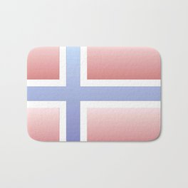 flag of norway  -with color gradient Bath Mat