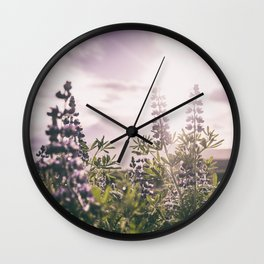 Lupine Wall Clock