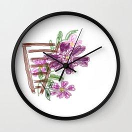 Sommer Rosen Wall Clock