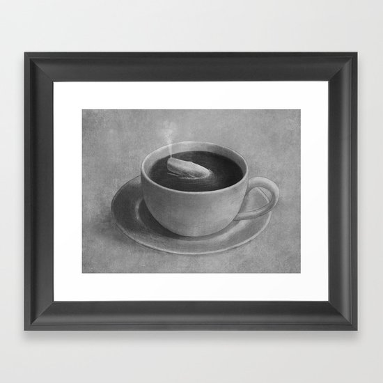 Whale in a tea cup  Framed Art Print