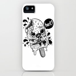 Ice cream hurt black iPhone Case