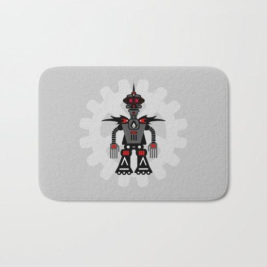 Evil Robot Bath Mat