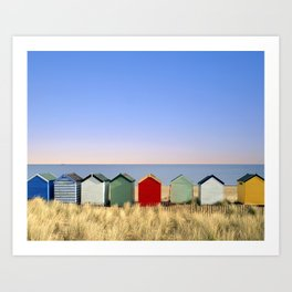 Beach Huts at Southwold (Suffolk/Great Britain) Art Print