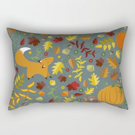 Fox In The Leaves Rectangular Pillow