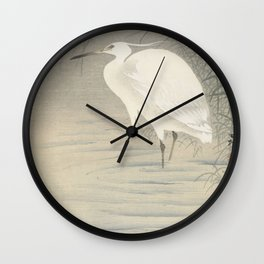 Little egret - Ohara Koson (1900-1930) Wall Clock