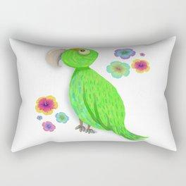 Parrot Bibi Flowers Rectangular Pillow