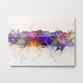 Le Havre skyline in watercolor background Metal Print
