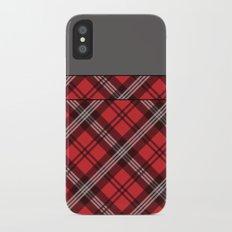 Scottish Plaid (Tartan) - Red iPhone X Slim Case