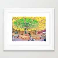 carnival Framed Art Prints featuring Carnival by Jacqueline Drayer