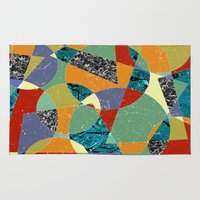 the 100 Area & Throw Rugs featuring Abstract #100 by Ron Trickett (Rockett Graphics)