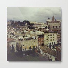 Rainy Rome Metal Print