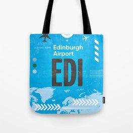 EDI Edinburgh airport code Tote Bag