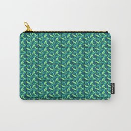 Sea Green Tiles Carry-All Pouch