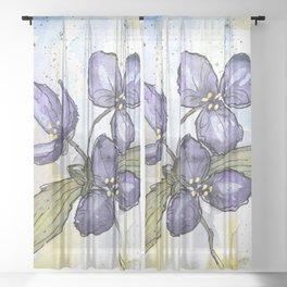 Spiderwort Prairie Plant Sheer Curtain