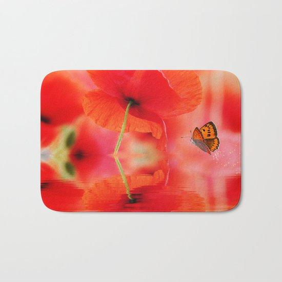 Summer Dream of Poppies Bath Mat