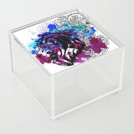 Purple Lion Spirit Acrylic Box