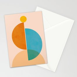Abstraction_SUN_Rising_Minimalism_001 Stationery Cards