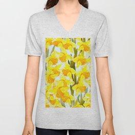 Spring Breeze With Yellow Flowers #decor #society6 #buyart Unisex V-Neck