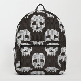 Knitted skull pattern Backpack