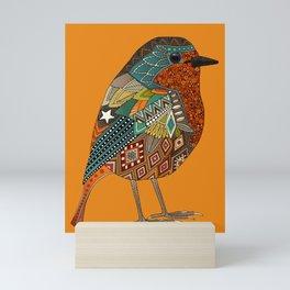 robin orange Mini Art Print