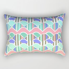 Colorful waves- upside down Rectangular Pillow